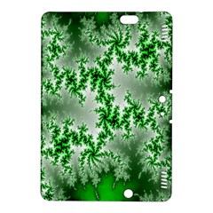 Green Fractal Background Kindle Fire Hdx 8 9  Hardshell Case by Simbadda
