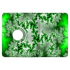 Green Fractal Background Kindle Fire Hdx Flip 360 Case by Simbadda