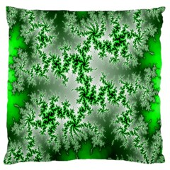 Green Fractal Background Standard Flano Cushion Case (one Side) by Simbadda