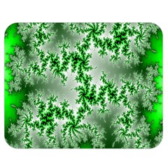 Green Fractal Background Double Sided Flano Blanket (medium)  by Simbadda