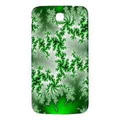 Green Fractal Background Samsung Galaxy Mega I9200 Hardshell Back Case by Simbadda