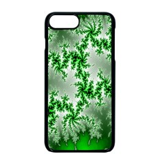 Green Fractal Background Apple Iphone 7 Plus Seamless Case (black) by Simbadda
