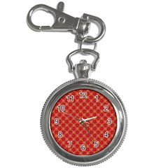 Abstract Seamless Floral Pattern Key Chain Watches by Simbadda
