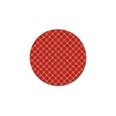 Abstract Seamless Floral Pattern Golf Ball Marker (10 Pack) by Simbadda