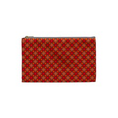 Abstract Seamless Floral Pattern Cosmetic Bag (small)  by Simbadda