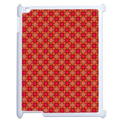 Abstract Seamless Floral Pattern Apple Ipad 2 Case (white) by Simbadda
