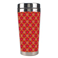 Abstract Seamless Floral Pattern Stainless Steel Travel Tumblers by Simbadda