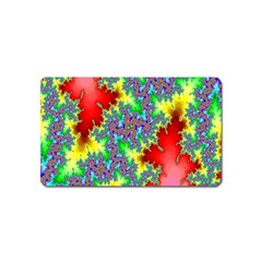 Colored Fractal Background Magnet (name Card) by Simbadda
