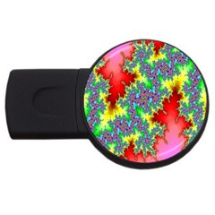 Colored Fractal Background Usb Flash Drive Round (2 Gb) by Simbadda