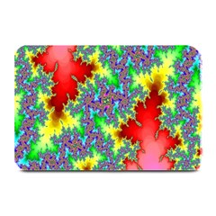 Colored Fractal Background Plate Mats by Simbadda