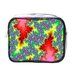 Colored Fractal Background Mini Toiletries Bags by Simbadda