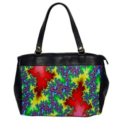 Colored Fractal Background Office Handbags