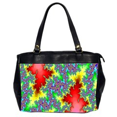 Colored Fractal Background Office Handbags (2 Sides)  by Simbadda