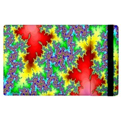 Colored Fractal Background Apple Ipad 2 Flip Case by Simbadda