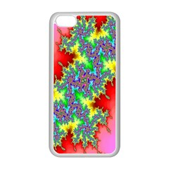 Colored Fractal Background Apple Iphone 5c Seamless Case (white) by Simbadda