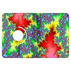 Colored Fractal Background Kindle Fire Hdx Flip 360 Case by Simbadda