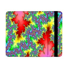 Colored Fractal Background Samsung Galaxy Tab Pro 8 4  Flip Case by Simbadda