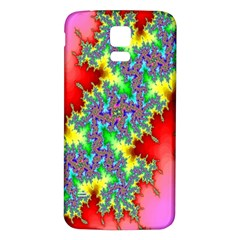 Colored Fractal Background Samsung Galaxy S5 Back Case (white) by Simbadda