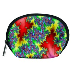Colored Fractal Background Accessory Pouches (medium)  by Simbadda