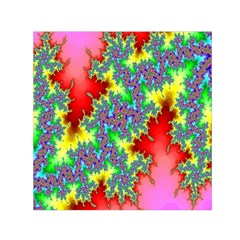 Colored Fractal Background Small Satin Scarf (square) by Simbadda