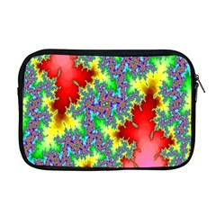 Colored Fractal Background Apple Macbook Pro 17  Zipper Case by Simbadda