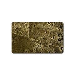Peacock Metal Tray Magnet (name Card) by Simbadda
