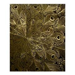 Peacock Metal Tray Shower Curtain 60  X 72  (medium)  by Simbadda