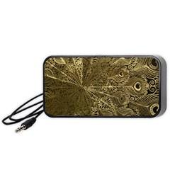 Peacock Metal Tray Portable Speaker (black) by Simbadda