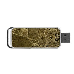 Peacock Metal Tray Portable Usb Flash (one Side) by Simbadda