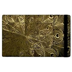 Peacock Metal Tray Apple Ipad 3/4 Flip Case by Simbadda