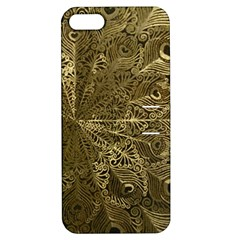 Peacock Metal Tray Apple Iphone 5 Hardshell Case With Stand by Simbadda