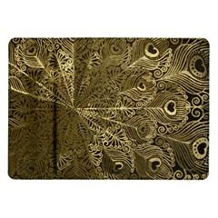 Peacock Metal Tray Samsung Galaxy Tab 10.1  P7500 Flip Case