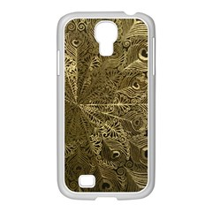 Peacock Metal Tray Samsung Galaxy S4 I9500/ I9505 Case (white) by Simbadda