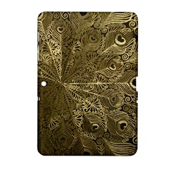 Peacock Metal Tray Samsung Galaxy Tab 2 (10 1 ) P5100 Hardshell Case  by Simbadda