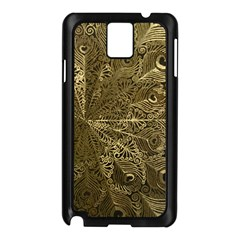Peacock Metal Tray Samsung Galaxy Note 3 N9005 Case (black) by Simbadda