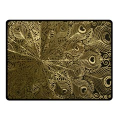 Peacock Metal Tray Double Sided Fleece Blanket (small)  by Simbadda