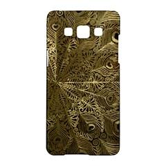 Peacock Metal Tray Samsung Galaxy A5 Hardshell Case  by Simbadda