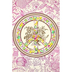 Peace Logo Floral Pattern 5 5  X 8 5  Notebooks by Simbadda