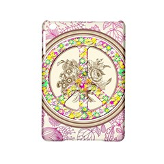 Peace Logo Floral Pattern Ipad Mini 2 Hardshell Cases by Simbadda