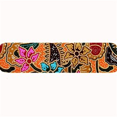 Colorful The Beautiful Of Art Indonesian Batik Pattern Large Bar Mats by Simbadda