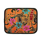 Colorful The Beautiful Of Art Indonesian Batik Pattern Netbook Case (Small)  Front