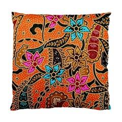 Colorful The Beautiful Of Art Indonesian Batik Pattern Standard Cushion Case (two Sides) by Simbadda