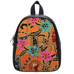 Colorful The Beautiful Of Art Indonesian Batik Pattern School Bags (small)  by Simbadda