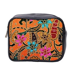 Colorful The Beautiful Of Art Indonesian Batik Pattern Mini Toiletries Bag 2 Side by Simbadda