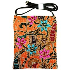 Colorful The Beautiful Of Art Indonesian Batik Pattern Shoulder Sling Bags by Simbadda