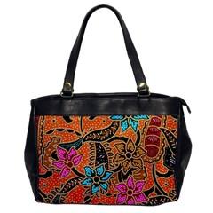 Colorful The Beautiful Of Art Indonesian Batik Pattern Office Handbags by Simbadda
