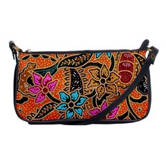 Colorful The Beautiful Of Art Indonesian Batik Pattern Shoulder Clutch Bags by Simbadda