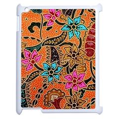 Colorful The Beautiful Of Art Indonesian Batik Pattern Apple Ipad 2 Case (white) by Simbadda