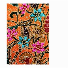 Colorful The Beautiful Of Art Indonesian Batik Pattern Small Garden Flag (two Sides) by Simbadda