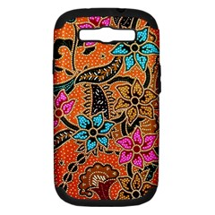 Colorful The Beautiful Of Art Indonesian Batik Pattern Samsung Galaxy S Iii Hardshell Case (pc+silicone) by Simbadda